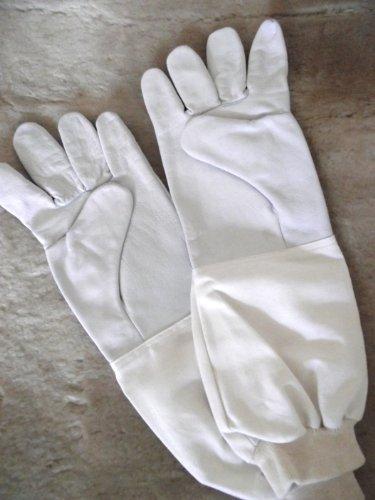 Top Imkerhandschuhe, Schaf- und Lamm-Nappahandschuhe für Imker - gutes Tastgefühl - Größe 7 - extra lange Stulpe
