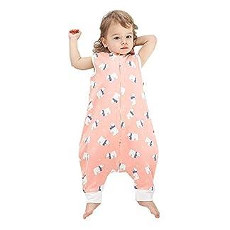 Eastery Saco De Dormir para Bebés Saco De Dormir De Verano Estilo Simple Sin Mangas para Niños Pequeños 100% Algodón 0.5 TOG Pijamas De Verano Manta De Dormir Manta Saco De Dormir BAER L Tamaño