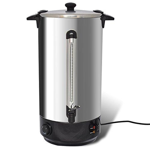 vidaXL Wasserkocher Glühweinkocher Teekocher Glühweinkessel Edelstahl 25 Liter