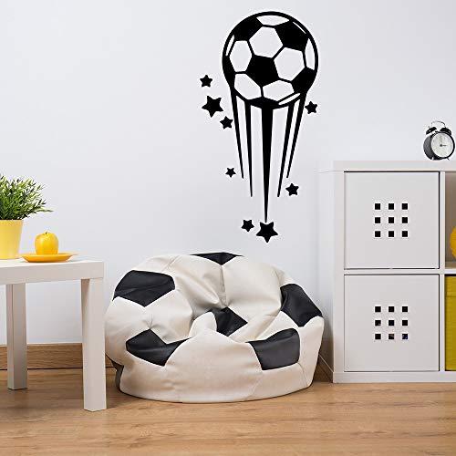 HNXDP Cartoon Sterne Fußball Wandaufkleber Vinyl Wandkunst Aufkleber Moderne Mode Für Kinder Jungen Wohnzimmer Wohnkultur Kunst Aufkleber Rot XL 58 cm X 112 cm -