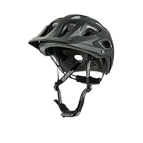 O'Neal Thunderball MTB Helm Solid Matt Schwarz Motorrad EPS Material Hohe Sicherheitsreserven, 0007-0, Größe M/XL (57-60 cm)