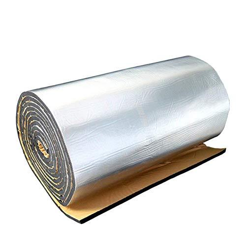 HEIRAO Kühlerisolationsfolie, 10mm Wasserdichte Schalldämpfungs-Pad-Aluminiumfolie für Auto, Wände, Böden, Dächer und Wohnmobile, 60 40 Zoll
