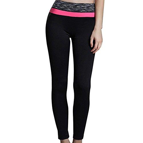 Lover-Beauty Damen Sport Leggings Yoga Pants Yoga Sporthose Training Sport Strumpfhosen Rosa1