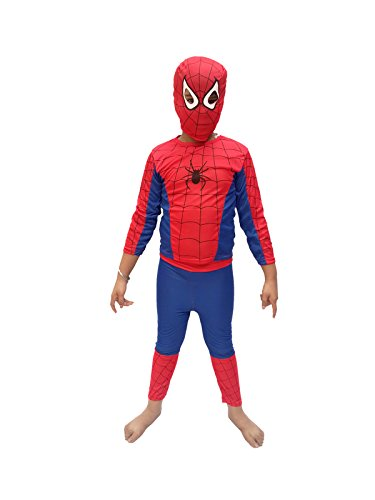 KFD Spiderman fancy dress for kids,Super Hero Costume for Annual function/Theme Party/Competition/Stage Shows/Birthday Party Dress