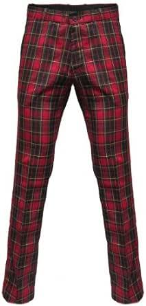 Relco - Pantaloni a Quadri Scozzesi Sta-Prest - Rosso e Verde - 40