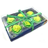 Urvi Creations Set Of 6 Flower Shape Floating Candles For Diwali Home Decor - Multi Colour