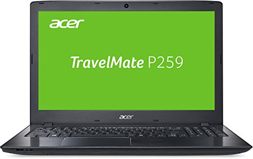 Acer TravelMate P259 (P259-M-38P7) 39,6 cm (15,6 Zoll HD matt) Office Notebook (Intel Core i3-6006U, 8GB RAM, 256GB SSD, Intel HD, Win 10 Pro) schwarz