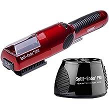 Split Ender PRO (Rojo) cortador de puntas abiertas Base Recargable/Adaptador-Corriente
