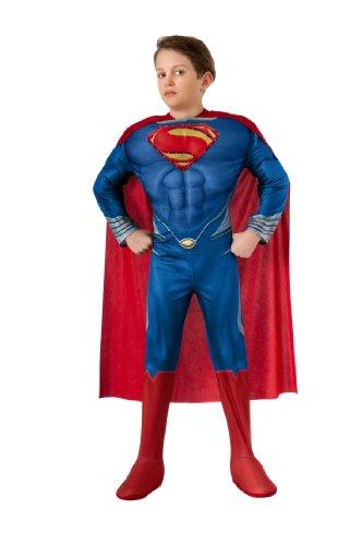 Man of Steel Child's Deluxe Lite Up Superman Costume, Small (Superman Mann Of Steel Kostüm Cape)