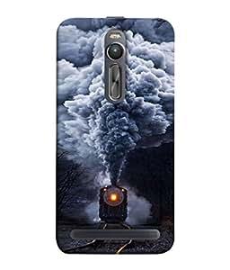 99Sublimation Designer Back Case Cover for Asus Zenfone 2 ZE5511ML (cloud train railway weather coal)