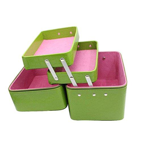 Double Handheld Kosmetik Fall Modische Kosmetik Tasche Aufbewahrungsbeutel Beauty Taschen Embossing Tool Taschen Green