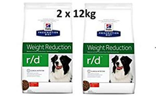 Hill's Prescription Diet r/d 2 x 12 kg Weight Reduction Hundefutter mit Huhn