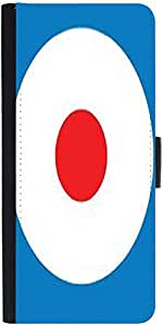 Snoogg Shooting Target Graphic Snap On Hard Back Leather + Pc Flip Cover Moto-E