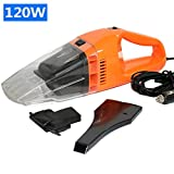 XCQHSHI Car Vacuum Cleaner 120W Super Suction Portable Handheld Vacuum Cleaner Wet and Dry Dual Use for 12V Car