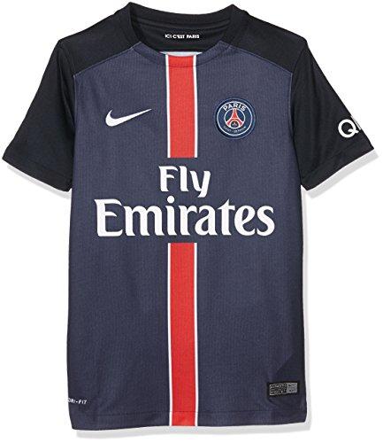 Nike 1ª Equipación Paris Saint Germain 2015/2016 - Camiseta Oficial niño, Color Azul Marino/Blanco, Talla S