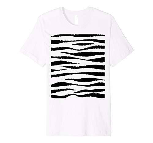 (Tiger Zebra Streifen Halloween-Kostüm T Shirt)