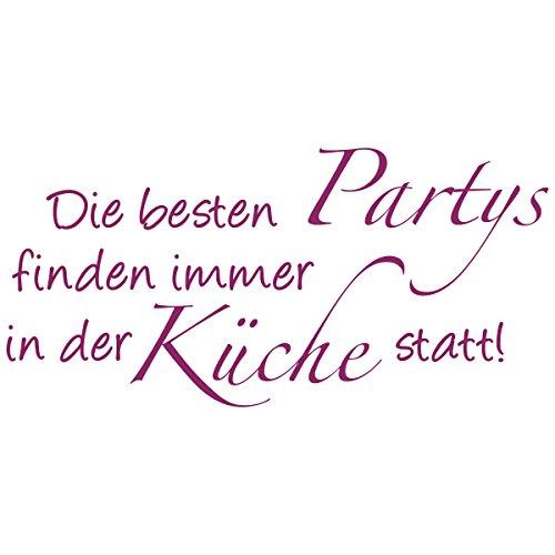 WANDKINGS Wandtattoo – Die besten Partys finden immer in der Küche statt! – Wähle aus 5 Größen & 35 Farben