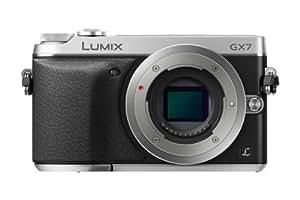 Panasonic Lumix DMC-GX7 Systemkamera (16 Megapixel, 7,6 cm (3 Zoll) Display, Full HD, optische Bildstabilisierung, WiFi, NFC) schwarz/silber