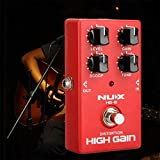 Qewmsg NUX HG-6 Distortion Electric Guitar Effect Pedal True Bypass Guitar Part
