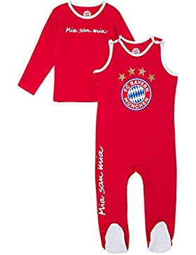 Baby Strampler FC Bayern München + gratis Sticker München Forever, Babystrampler