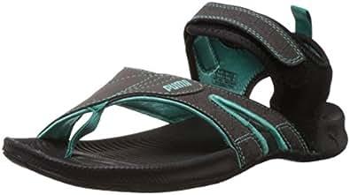 Puma Unisex Jiff 5 Ind. Turbulence, Pool Green and Grenadine Athletic & Outdoor Sandals - 5 UK