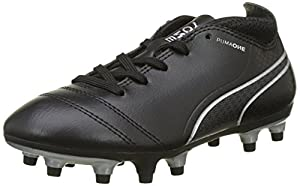 Puma One 17.4 Fg Jr, Chaussures de Football Mixte Enfant, Bleu (Black-Black-Silver), 30 EU