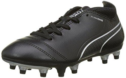 Puma Unisex-Kinder One 17.4 FG Jr Fußballschuhe, Blau (Black-Black-Silver), 33 EU (Puma Kinder Schuhe)