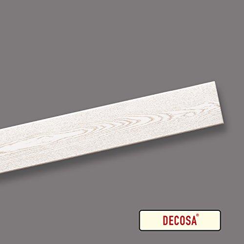 Decosa Deckenpaneele Stockholm, esche weiß, 10 Packstücke à 12 Paneelen 100 x 16,5 cm (= 20 qm)