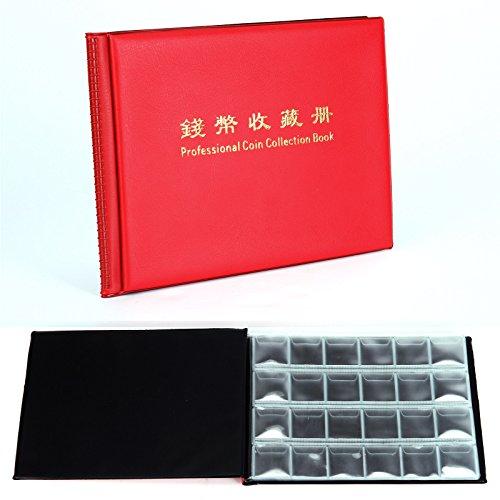 Rot 240Coin Collection Halter Aufbewahrung Geld zu sammeln Penny Taschen Album Buch (Penny-münzen Zu Sammeln)