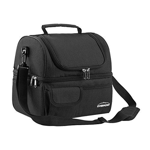 Overmont sacco per il pranzo termica mantiene freddo o caldo 20l borsa porta pranzo a tracolla in ufficio scuola picnic campeggio
