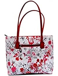Vj's Ladies Hand Bag With White & Red Color (12 Inch * 10 Inch)