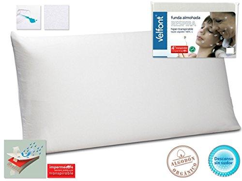 Funda almohada RESPIRA VELFONT transpirable hipermeable hipoalergenico tratamiento aloevera TODAS LAS...