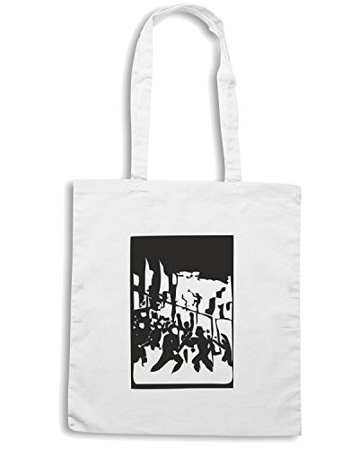T-Shirtshock - Borsa Shopping TCO0060 with-a-smile riot Bianco