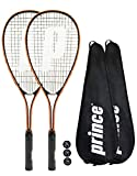Prince 2 x Power Ti Raquettes de Squash + Covers + 3 Balles (Diverses Options)