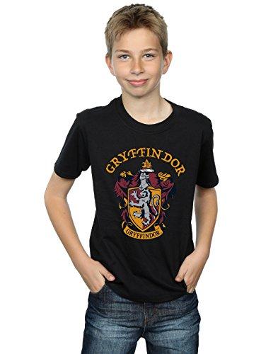 Harry Potter Jungen Gryffindor Crest T-Shirt Schwarz 7-8 Years