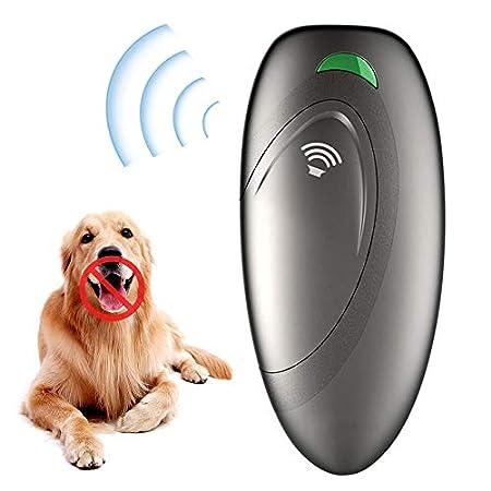 MOGOI Anti-Bell-Gerät, Ultraschall Hunde Repeller Und Trainer Kontrollbereich Der Ultraschall-Hundehilfe Von 16,4 Ft W Mit LED-Anzeige – 100% Sicherer Schalldämpfer Stoppt Das Bellen