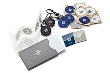 NFC Produkte von NFC21    Lieferumfang (20 NFC Produkte + 1 NFC Schutzhülle): Das NFC Maxi Paket lässt keine Wünsche offen. Es enthält die beliebtesten NFC Produkte. 5 Sticker (22 mm, weiß) mit NTAG 213. 5 Sticker (bedruckt, 30 mm), 2 NFC Magnete ...