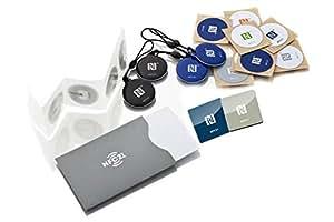 NFC Starterkit Maxi - Inhalt: 20 NFC Tags + NFC Schutzhülle, optimal für Geräte-/ Profilsteuerung ( Wlan, Bluetooth, Apps), kompatibel mit allen NFC Smartphones und Tablets
