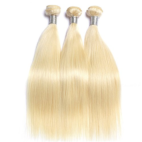 Mila 100% remy 3pc tessitura extensions biondi 613# nautral veri capelli umani hair weave 100g/bundle lisci style (16