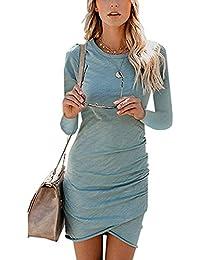 0c919ac29864 Suchergebnis auf Amazon.de für: langarm kleid - Blau / Damen: Bekleidung