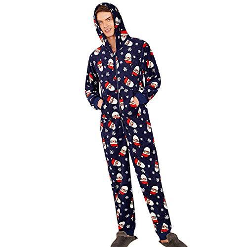 Yesmile Familien Outfit Familie Schlafanzug Kariert Pyjama mit Kapuze Weihnachten Baby Kinder Mama Papa Xmas Pullover Hausanzug Partnerlook