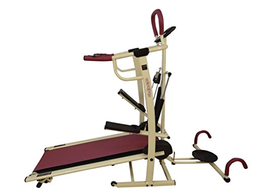 Body Maxx Benson 4 in 1 Foldable Manual Treadmill Dlx Model  available at amazon for Rs.9749