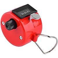 Harlls 4 Dígitos Portátil Conveniente De Plástico + Metal Contador de Talón de Mano Manual Palm Clicker Número Contando Golf