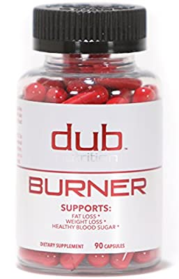 Dub Nutrition Muscle Preserving Fat Burner, Chromium Picolinate, Raspberry Ketones, Green Tea Leaf Extract, Caralluma Fimbriata, Weight-Loss Supplement,For Men And Women from Dub Nutrition