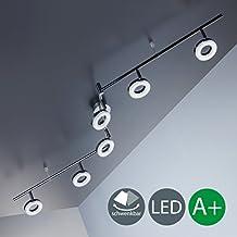 SISTEMA 6 FARETTI SPOT con circuito LED da 4 WATT per ogni faretto, 330 Lumen (Indice Sistema)