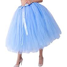 8ca54ef36 Amazon.es  falda tul azul