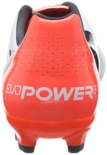 Puma Evopower 3 2 Fg, Football Entrainement homme Blanc (White/Total Eclipse/Lava Blast)