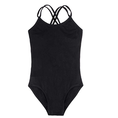 Arshiner Kids Girl's Double Strap Slim Solid Camisole Leotard