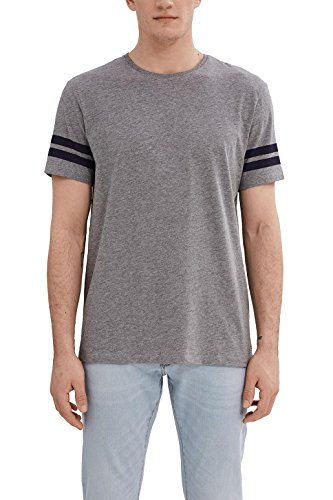 edc by ESPRIT Herren T-Shirt Grau (Medium Grey 035)