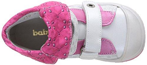 Babybotte Acteur2, Baskets mode fille Multicolore (2/710/Blanc/Fuchsia)